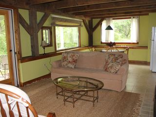 Gayhead - Aquinnah house photo - Lower Level Family Room, Patio and Kitchen
