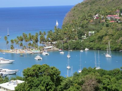 MARIGOT BAY ON THE EAST COAST OF ST. LUCIA