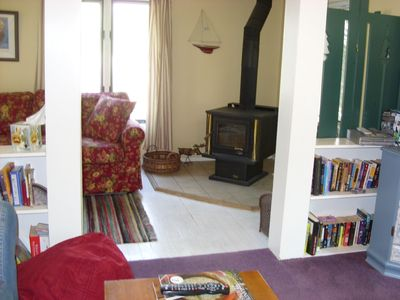 Beulah house rental - Wood stove/fireplace