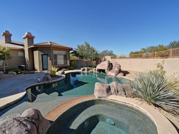 Scottsdale North house rental - Beautiful Pool with Jacuzzi and waterfall slide
