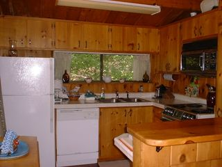 Somesville chalet photo - Fully equipped Upper level kitchen.+( also: a 2nd kitchen on lower level)