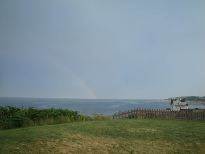 Double Rainbow! The ocean and the sky are aways changing.