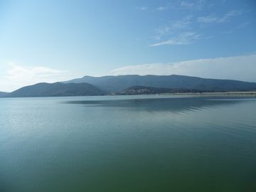 The Argentario from across the lagoons