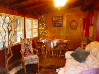 Harpers Ferry cabin photo - breakfast room with pass-thru to kitchen; morning coffee, watching the deer