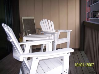 Carolina Beach condo photo - Deck Furniture on Spacious Deck