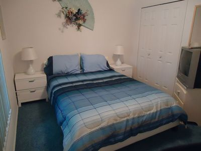 Windward Cay villa rental - double room with cable TV and DVD player