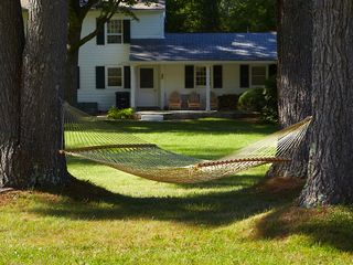 Hammock at Back of Home - Arlington farmhouse vacation rental photo