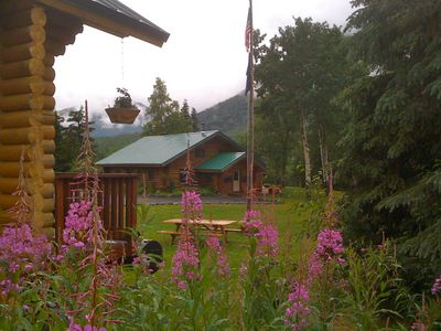 Late summer at Alaska Heavenly Lodge.