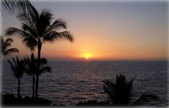 Keauhou condo rental - Sunset from Lanai.