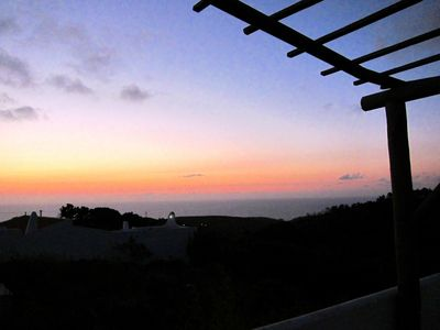 Sunset view of the Atlantic from the terrace