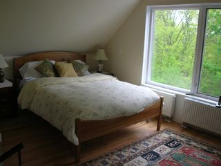 Castine cottage photo - Master bedroom with treetop views