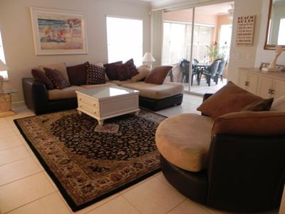 Vanderbilt Beach house rental - Snuggle up on this cozy couch.
