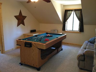 Upstairs Loft with Pool/Air Hockey combo table