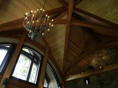 Lake Jocassee chateau / country house rental - Gorgeous arched ceilings on the main level will take your breath away.