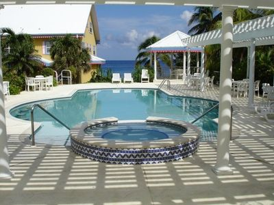 Grand Cayman condo rental - One of two pools; this one with whirlpool with gorgeous views.