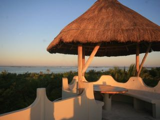 Tulum villa photo - Rooftop dining and views