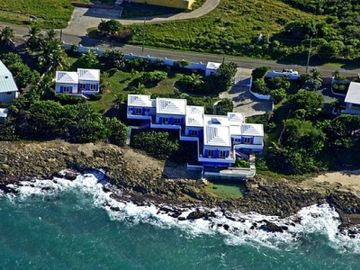 St. Croix villa rental - Aerial View of Sea View Play Villa and Private Cottage