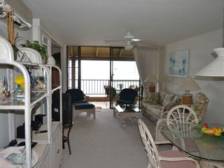 Maalaea condo photo - View from entry way of living room towards ocean which is less than 65' away.