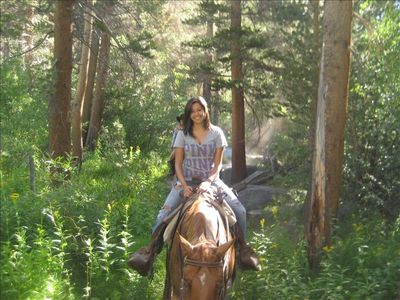 Enjoy horseback riding in the High Sierras!