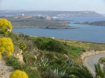 Stunning country views over Comino