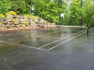 Elkhorn house photo - Tennis, anyone? Great for exercise, tournaments or getting out of doing dishes.