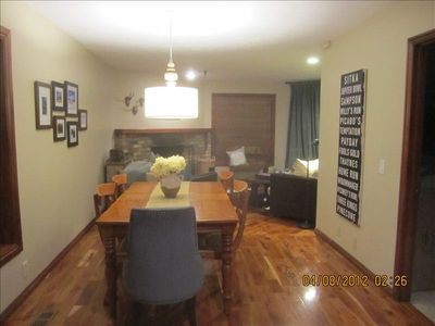 Spacious, open floor plan, beautiful hardwood floors, fireplace, wifi, tv, dvd