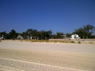 Bay St. Louis house rental - Looking from beach towards town.