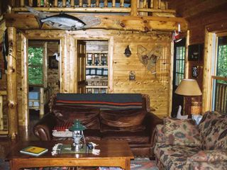 Cheboygan lodge photo - Knotty pine & Cedar everywhere in the Great Room
