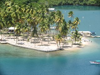 Marigot Bay villa photo - The Famous Marigot Bay Sandspit. Original films site of Dr. Dolittles.