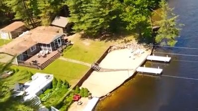 Lake Front Home On Secord Lake With Beach And Two Boat Docks, NOW with WIFI!