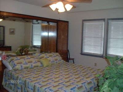 Master bedroom with king bed (upper level)