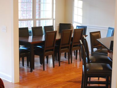 Pinehurst house rental - Dining -- 14 Dining Room Chairs, Three Matching Highstools