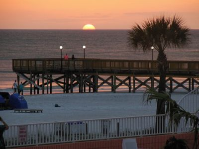 Indian Shores condo rental - Sunset from balcony all year around