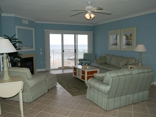 Oceans Pointe Ocean City condo photo - Living room with oceanview