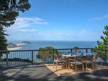 """Big Sur house rental - Welcome to """"Panoramic Point""""! Tranquil Big Sur Paradise! Panoramic Ocean and Rocky coastline Views."""