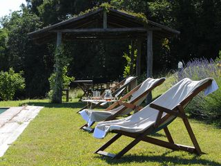 Lucca villa photo - Chairs and Gazebo Immersed in Nature