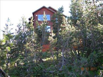Soda Springs house rental - Views from house include Castle Peak and Royal Gorge cross country ski trails.