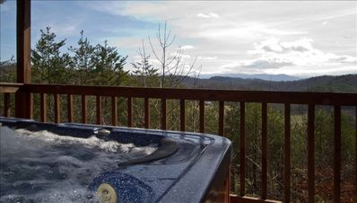 HOT TUB - Located on PRIVATE covered rear porch it is a top of the line hot tub!