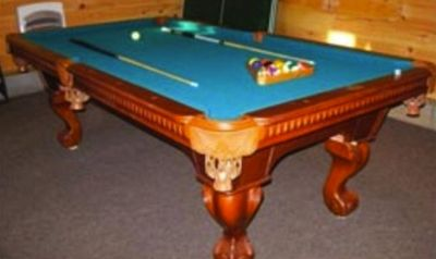 Challenge the others to a game of pool