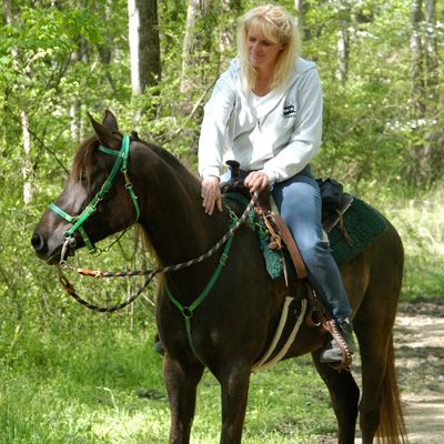 Horses are available for riding the trails