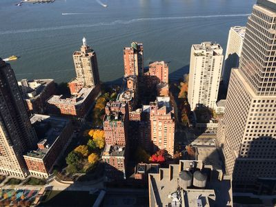 Battery Park and Hudson River seen from W Rooftop