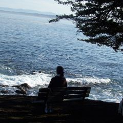 Pacific Grove condo photo - A nice bench to enjoy the ocean right across the street.