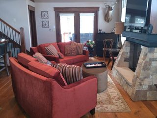 Frisco house photo - New Conversation Couches that can be moved to accomodate your group! Cozy up!