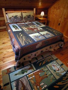 Hand-crafted beds with comfortable quilts - a restful night's sleep