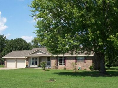 Tulsa house rental - Front of home, plenty of room for kids to play with lots of shade
