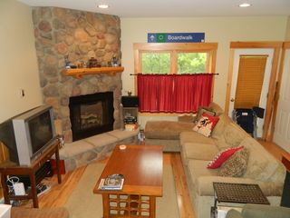 Carrabassett Valley condo photo - View of the living room from the kitchen