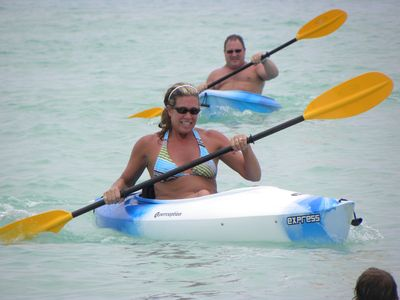 (1) 2 Man Kayak and 2 single kayaks for your use at our villa