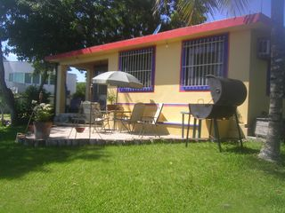 Bacalar house photo - Another patio off the main house with large BBQ looking out on the lake.