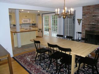 Eastham house photo - Large Dining Room with Fireplace