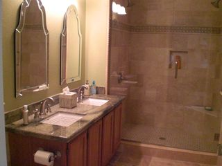 McCormick Ranch Scottsdale condo photo - master en suite large double shower head marble walk in shower